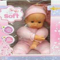 Boneca de pano e vinil little soft - alligra -