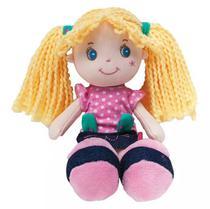 Boneca de Pano Gatinha  Rosa - 8140 Buba -
