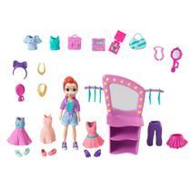 Boneca e Acessórios - Polly Pocket - Polly Conjunto Estúdio de Beleza - Mattel -