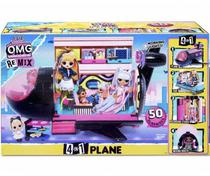 Boneca e Playset LOL Surprise OMG Remix 4 in 1 Plane - Candide -