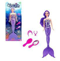 Boneca Estilo Barbie Sereia Com Roupa Extra Acessórios Linda - Ark Brasil