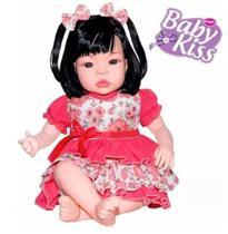 Boneca Estilo Reborn Baby Kiss Morena Promoção -