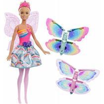 Boneca Fada Asas Voadoras Barbie - Mattel FRB08 -