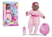 Boneca Faz Xixi New Bebe Negra Roma 5331 - Roma Brinquedos