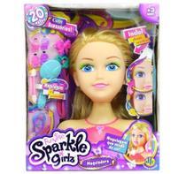 Boneca Funville Sparkle Girlz Maquiadora Loira - Dtc 4222 -