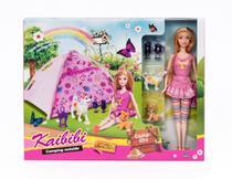 Boneca Kaibibi Camping Natureza Boneca Doll Barraca - Não informada