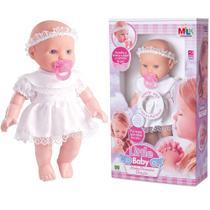 Boneca Little Baby Minha Primeira Oração - Reza O Pai Nosso - Milk Brinquedos -