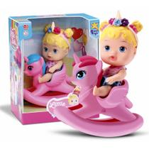 Boneca Little Dolls Balancinho Unicórnio - Divertoys