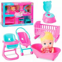 Boneca little dolls casinha - divertoys -