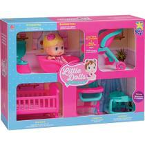 Boneca Little Dolls Divertoys Casinha 8023 -