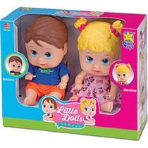 Boneca Little Dolls Divertoys Gêmeos 8037 -