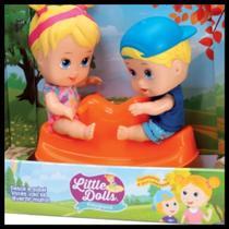 Boneca Little Dolls Playground Gangorra - Diver Toys -