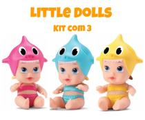 Boneca Little Dolls Tubaraozinho com 3 - Divertoys