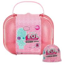 Boneca lol-bigger surprise 60 surpresas + lol fashion crush - Lol Surprise