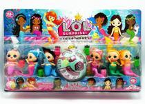 Boneca Lol Coleção 6 Lindas Sereias + Acessórios + LOL Surpresa -