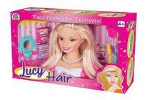 Boneca Lucy Hair Faça Penteados Com Acessórios Braskit - Candide