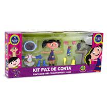 Boneca Luna Kit Faz De Conta Com Fantasias O Show Da Luna DTC 4458 -