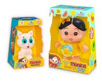 Boneca Magali C/som Mascote Mingau - Adijomar - Turma Da Mônica -