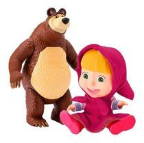 Boneca Masha E Boneco Urso Original Personagens Em Vinil - Divertoys