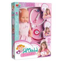 Boneca Médica Primeira Consulta Linda Sapekinha Milk 30 Cm - Milk brinquedos