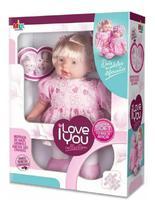 Boneca Menina Grande I Love You Colection Lacinho - Milk - Milk Brinquedos