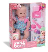 Boneca Menina  New Born Primeiros Cuidados Faz Xixi Vinil - Divertoys