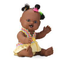 Boneca Milkinha Petit Negra Chuquinha Cheirinho De Morango - Milk Brinquedos -