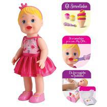 Boneca my little collection ice cream (sorvete) criança brinquedo - 8033 - DIVER TOYS