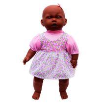 Boneca negra bonequinha bebe baby tipo reborn - Milk