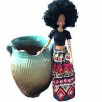 Boneca Negra Estilo Barbie Articulada 32cm Africana Linda - Zomles