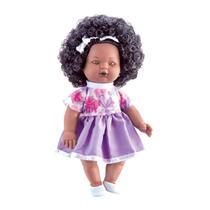 Boneca Nelly Doll Negra Fala 100 Frases, 40CM - Milk Brinquedos -