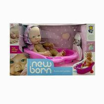 Boneca New Born Banho De Carinho - Divertoys
