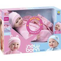 Boneca New Born Divertoys Soninho Menina 8065 -