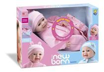 Boneca New Born Soninho Menina Divertoys - Olho Móvel -