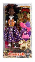 Boneca Nigeriana Queens of África Azeezah com acessórios - Fico Toys