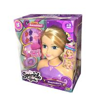 Boneca Para Maquiagem e Penteado Sparkle Girlz Loira - DTC -