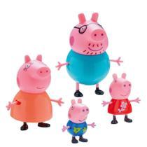 Boneca Peppa Familia Pig Dtc -