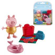 Boneca Peppa Pig 05 cm Roupa Amarela e Acessórios - Sunny -