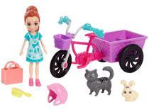 Boneca Polly Pocket Aventura de Bicicleta - com Bichinho e Acessórios Mattel GFR03