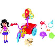 Boneca Polly Pocket Bicicleta Aventura Pet FRY92 - Mattel