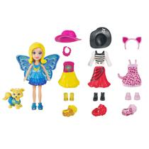 Boneca Polly Pocket Cachorrinho Looks Combinados Dwc26 Polly