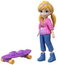 Boneca Polly Pocket Com Skate - Mattel FTP68