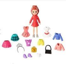 Boneca Polly Pocket - Conjunto de Viagens Fashion - Lila - Mattel -