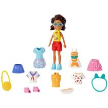 Boneca Polly Pocket - Conjunto de Viagens Fashion - Shani - Mattel