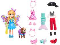 Boneca Polly Pocket Kit Cachorro Fantasias  - Combinadas com Acessórios Mattel GDM15