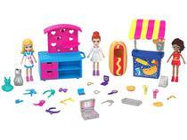 Boneca Polly Pocket Quiosque de Moda e Lanchinhos - com Acessórios Mattel GFR10