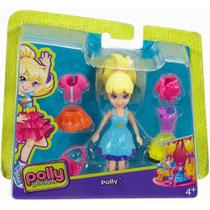Boneca Polly Pocket Super Fashion - Polly Com Vestido Azul - Mattel