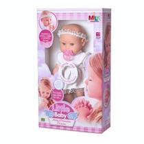 Boneca Que Reza Minha Primeira Oracao Little Baby Milk -