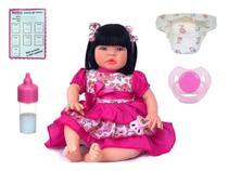 Boneca Reborn Baby Kiss Morena - Kaydora Brinquedos