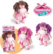 Boneca Sapekinha Soft Pano 40cm - Milk brinquedos